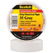 """3M 35 Colored Electrical Tape, 7 Mil, 3/4"""" x 66', Gray, 10/Case (T96403510PKT)"""