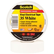 "3M 35 Colored Electrical Tape, 7 Mil, 3/4"" x 66', White, 10/Case (T96403510PKW)"