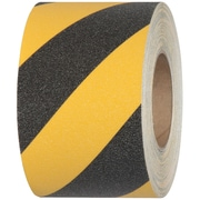 "Tape Logic® Heavy-Duty Striped Anti-Slip Tape, 28 Mil, 4"" x 60', Black/Yellow, 1/Roll (T96960BY)"