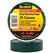 """3M 35 Colored Electrical Tape, 7 Mil, 3/4"""" x 66', Green, 100/Case (T964035G)"""