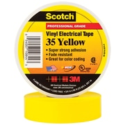 "3M 35 Colored Electrical Tape, 7 Mil, 3/4"" x 66', Yellow, 100/Case (T964035Y)"