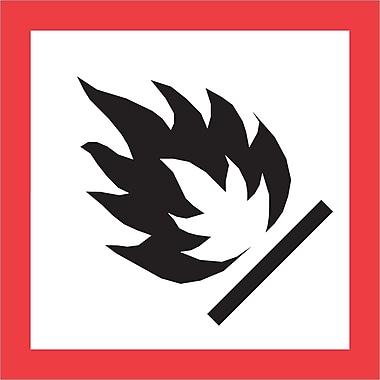 Tape Logic® Pictogram Labels, Flame, 1