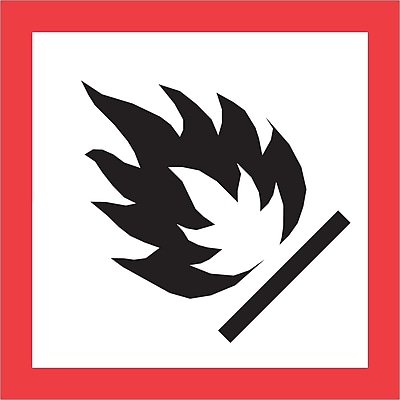 Tape Logic® Pictogram Labels, Flame, 1