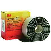 "3M ScotchfilElectrical Putty, 125 Mil, 1 1/2"" x 5', Black, 12/Case (T966SF)"