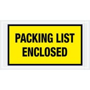 "Tape Logic® ""Packing List Enclosed"" Envelopes, 5 1/2"" x 10"", Yellow, 1000/Case (PL425)"