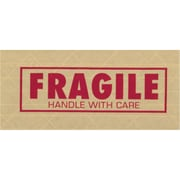 """Tape Logic® #7500 Pre-Printed Reinforced Water Activated Tape, """"Fragile"""", 3"""" x 450' , Kraft, 10/Case (T9077500F)"""