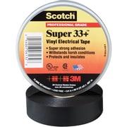 """3M 33+ Electrical Tape, 7 Mil, 1 1/2"""" x 108', Black, 10/Case (T96603310PK)"""