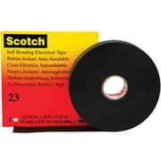 """3M 23 Electrical Tape, 30 Mil, 3/4"""" x 30', Black, 2/Case (T9640232PK)"""