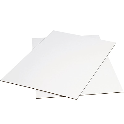 Partners Brand White Corrugated Sheets, 40