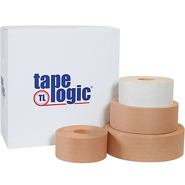 Tape Logic® #7200 Reinforced Water Activated Tape, 72mm x 375', Kraft, 8/Case (T9067200)