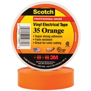 "3M 35 Colored Electrical Tape, 7 Mil, 3/4"" x 66', Orange, 100/Case (T964035O)"