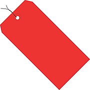 """Shipping Tags, Pre-Wired, 13 Pt., 8"""" x 4"""", Red 500/Case (G11093E)"""
