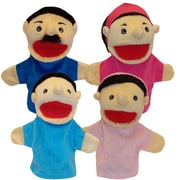 "Get Ready Kids 12"" family puppets, Hispanic, set of 4 (370)"