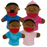 "Get Ready Kids 12"" family puppets, African American, set of 4 (360)"