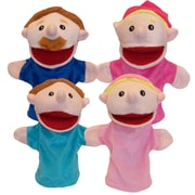 "Get Ready Kids 12"" family puppets, Caucasian, set of 4 (350)"