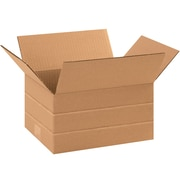 "Multi-Depth Corrugated Boxes, 10"" x 8"" x 6"", Kraft, 25/Bundle (MD1086)"