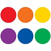 Teacher Created Resources Spot On Colorful Circles Plastic Carpet Markers, Assorted Colors, Pack of 6 (TCR77001)