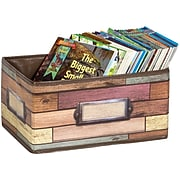 Teacher Created Resources Small Storage Bin, Reclaimed Wood (TCR20913)