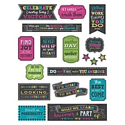 Teacher Created Resources® Chalkboard Brights Positive Sayings Mini Bulletin Board Set, 18/Set (TCR5575)