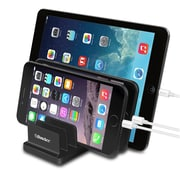 BasAcc Black Universal Charging Station Stand Dock Multi Device Desk Organizer (Support 6 Devices)