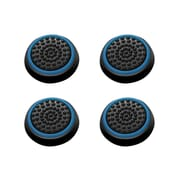 Insten 4pcs Black/Blue Silicone Thumbstick Grips Caps Analog for Xbox 360 Xbox One Sony PlayStation 2 3 4 Controller