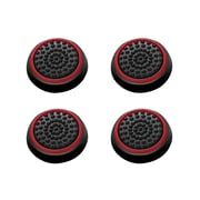 Insten 4pcs Black/Red Silicone Thumbstick Grips Caps Analog for Xbox 360 Xbox One Sony PlayStation 2 3 4 Controller