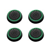 Insten 4pcs Black/Green Silicone Thumbstick Grips Caps Analog for Xbox 360 Xbox One Sony PlayStation 2 3 4 Controller