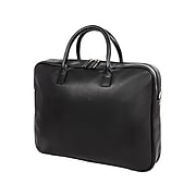 Bond Street Leather Slim Briefcase, Black (EXB5062BS-BLACK)