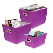 Honey Can Do Canvas Tote Set, Purple ( SFTX06796 )