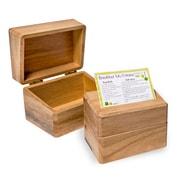 Honey Can Do 4x6 Recipe Card Box, natural ( 2407 )