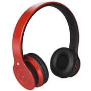 Alpha Digital BH-530-R Bluetooth Headphone with Soft Fit Ear Covers and Built-In Microphone (Red)