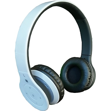 Alpha Digital BH-530-W Bluetooth Headphone with Soft Fit Ear Covers and Built-In Microphone (Black)