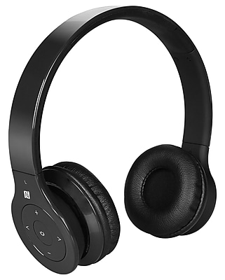 Alpha Digital BH-530-B Bluetooth Headphone with Soft Fit Ear Covers and Built-In Microphone (Black)