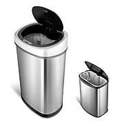 Nine Stars Stainless Steel Motion Sensor Combo Trash Can, 13.2 Gallon / 3.1 Gallon (CB-DZT-50-9/8-1)
