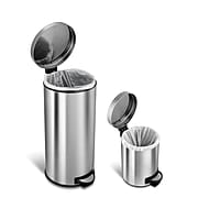 Nine Stars Stainless Steel Step On Combo Trash Can, 7.9 Gallon (CB-SOT-30-1/5-1)