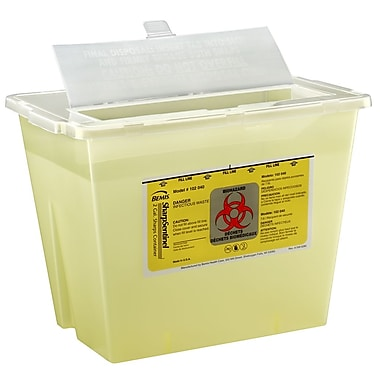 Bemis Sharps Container, 2 Gallon, Yellow, Pack of 5 (102040-5)