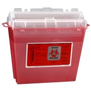 Bemis Sharps Container, 5 Quart, Red, Pack of 5 (175030-5)