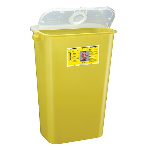 Bemis Sharps Container, 11 Gallon, Yellow, 6 Pack (111040-6)