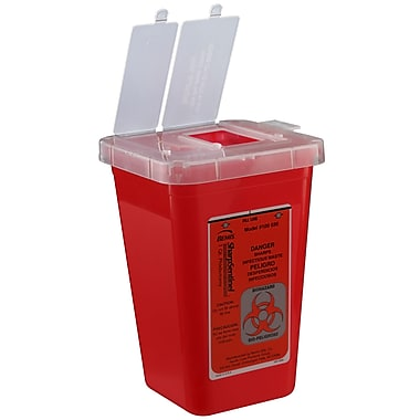 Bemis Phlebotomy Container, 1 Quart, Red, Pack of 20 (100030-20)