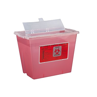 Bemis Sharps Container, 2 Gallon, Red, Pack of 5 (102030-5)