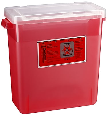 Bemis Sharps Container, 3 Gallon, Red, 12 Pack (303030-12)