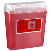Bemis  Wallsafe® Sharps Container, 5 Quart, Red, Box of 24 (150030-24)
