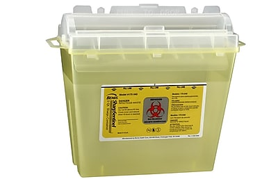Bemis Sharps Container, 5 Quart, Yellow, Box of 32 (175040-32)