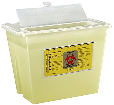 Bemis Sharps Container, 2 Gallon, Yellow, Box of 30 (102040-30)
