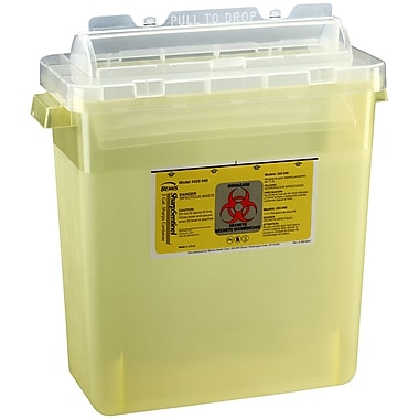 Bemis Sharps Container, 3 Gallon, Yellow, 12 Pack (333040-12)