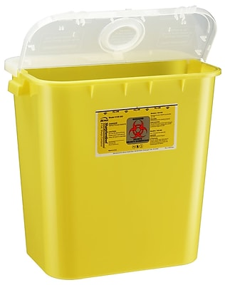 Bemis Sharps Container, 8 Gallon, Yellow, 10 Pack (108040-10)