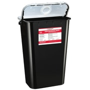 Bemis RCRA Hazardous Chemical Waste Container, 11 Gallon, Black, Box of 6 (5011070-6)
