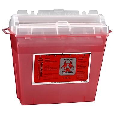 Bemis Sharps Container, 5 Quart, Red, Box of 32 (175030-32)