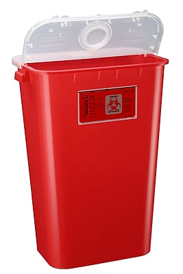 Bemis Sharps Container, 11 Gallon, Red, 6 Pack (111030-6)