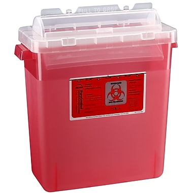 Bemis Sharps Container, 3 Gallon, Red, 12 Pack (333030-12)